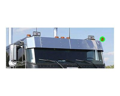 362 Peterbilt Cabover Stainless Visors-3 Options Available